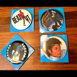 Accessories - Michael Jackson Buttons- Set of 4